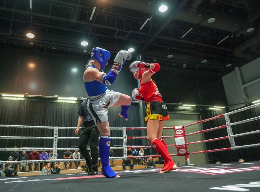 Maija Lehto, TMT vs. Linnea  Lindgård, HTBC. Kuva Riku Immonen.