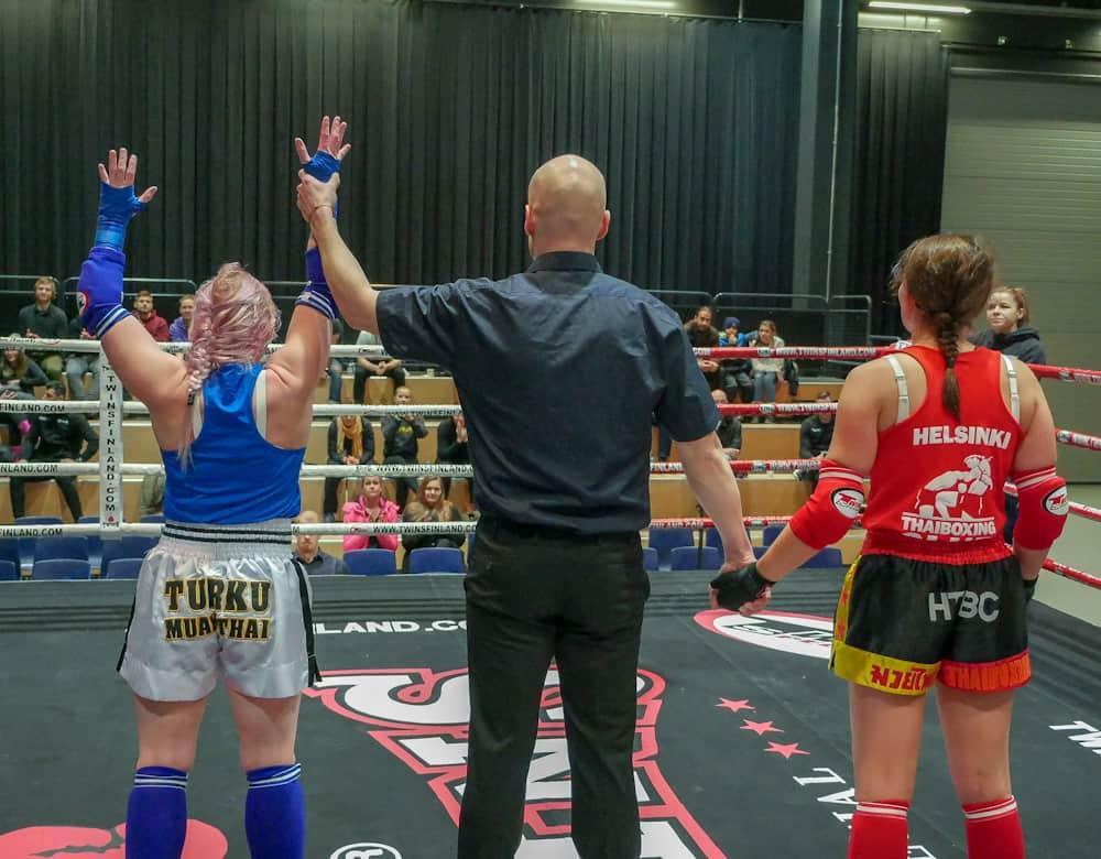 Maija Lehto, TMT vs. Linnea  Lindgård, HTBC 2-1. Kuva Riku Immonen.