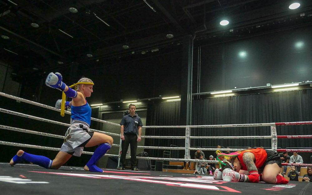 Susanna Lamminpää, TMT  vs Areta Santos, CAF. Kuva Riku Immonen