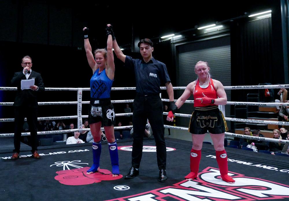 Monica Fant voittaa 3-0 Suomen mestaruuden. Kuva Riku Immonen.